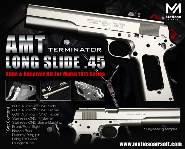 大尺寸浪漫! Mafioso AMT Hardballer Long Slide .45 , 7inch 1911